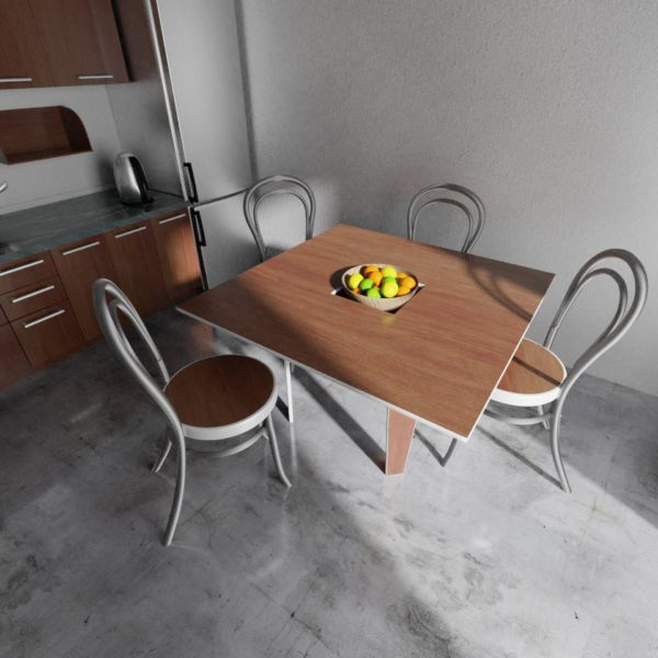 Handy table in a kitchen