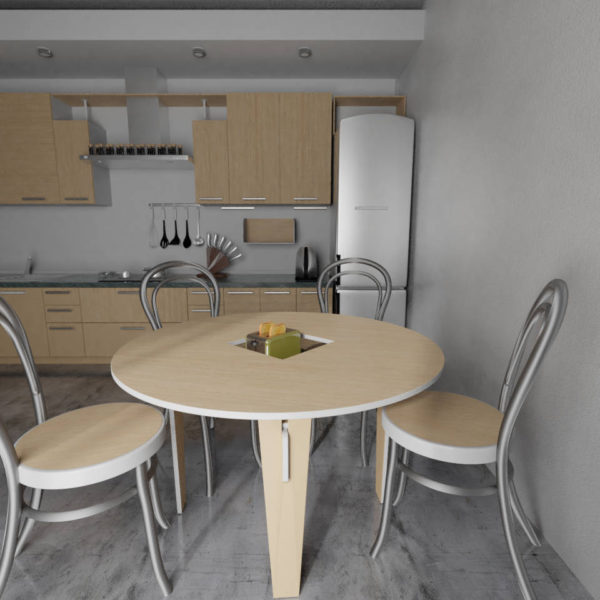 Kitchen featuring handy table