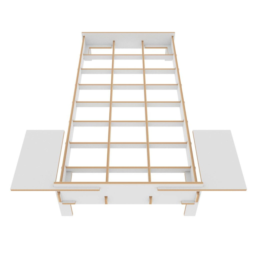 project Bed with attached light tables