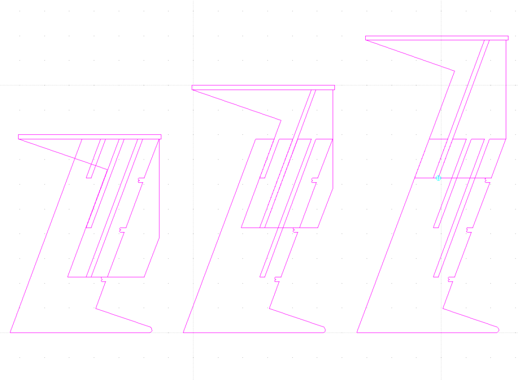 Standing Desk Scheme - 3 Height options
