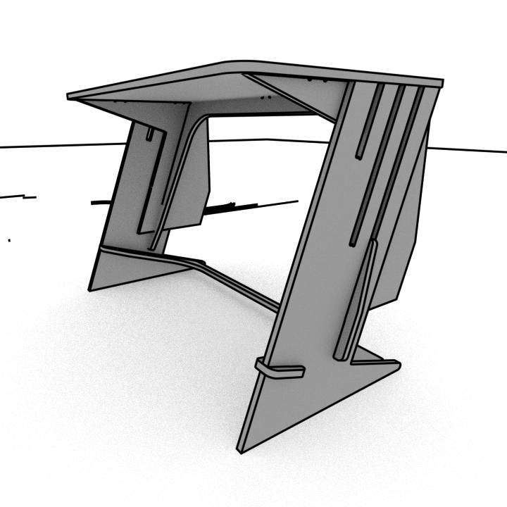 zTanding Desk Sketch - turnifure.com