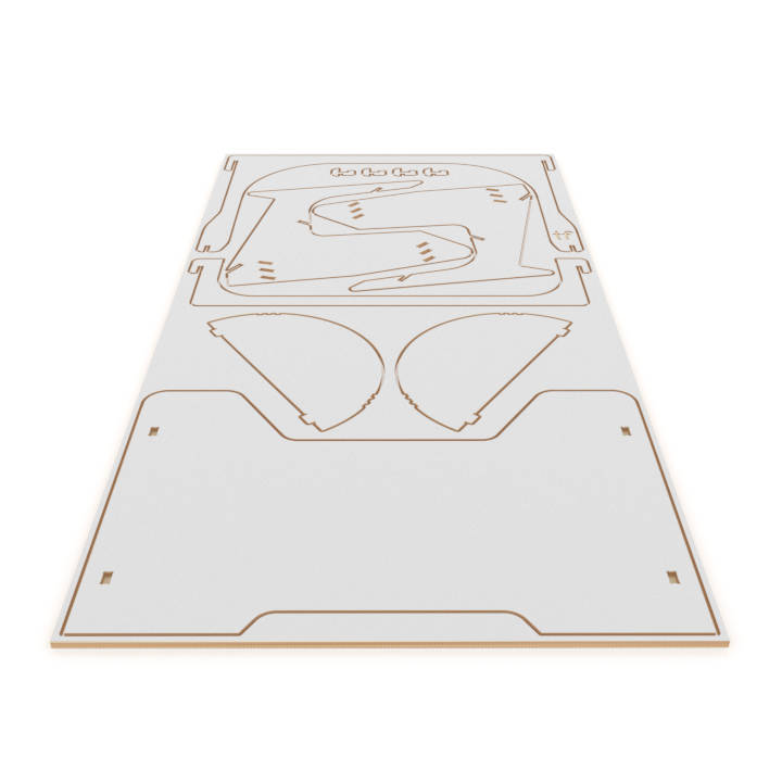 playDesk 2 flat out of the CNC