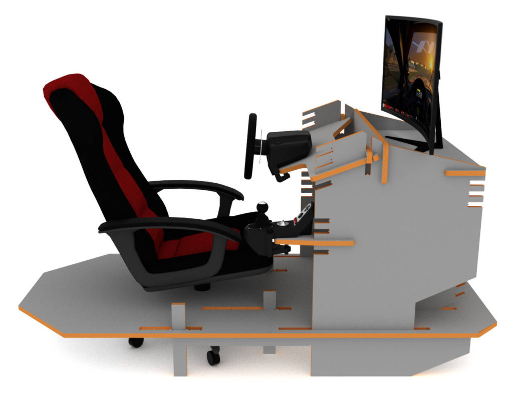 Render of my CNC Racing Simulator project